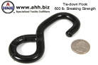 Vinyl Coated Hook for 1'' Webbing 600lb. Breaking Strength