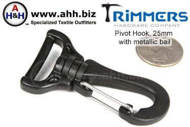 1 inch Pivot Hook with metallic bail