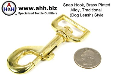 1 inch Swivel Snap-Hook Brass Plated Cast Metal Alloy Traditional Style