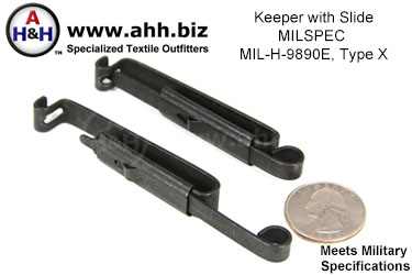 Belt Keeper with Slide, MIL-H-9890E, Type X