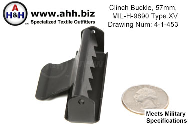 Clinch Buckle, 57mm, MIL-H-9890 Type XV