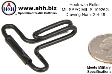Hook with Roller, Mil-Spec MIL-S-10926G