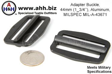 1 3/4 inch Adapter Buckle, Aluminum, Mil-Spec MIL-A-43671