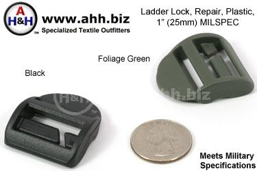 Mil-Spec Ladder Locks, repair, plastic 1.00″ - Cert.
