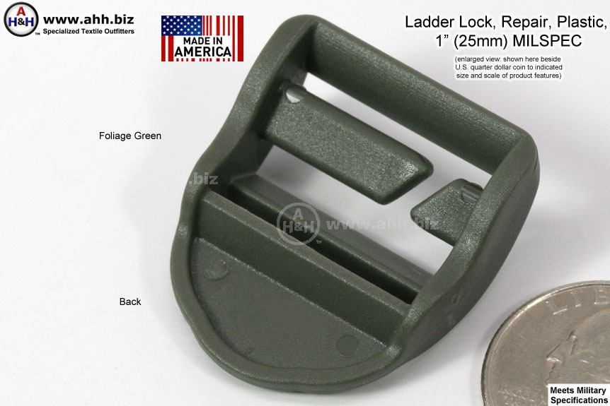 1 Inch Repair Ladder Locks Plastic Mil Spec Certified