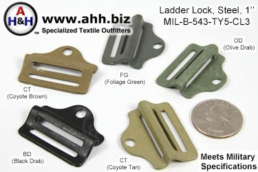 1 inch steel Ladder Locks, Mil-Spec MIL-B-543 Type 5, Class 3