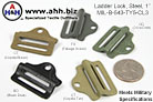 Ladder Locks 1'' Mil-Spec MIL-B-543-TY5-CL3 - Webbing Strap Adjusters