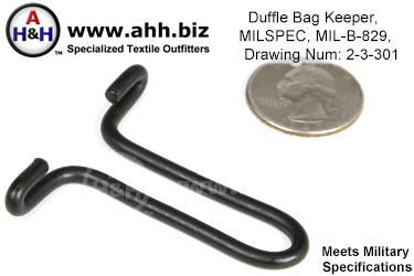 Duffel Bag Keeper, Mil-Spec MIL-B-829, Drawing Number 2-3-301