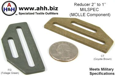 2″ to 1″ Webbing Reducer Ring, Steel MILSPEC (MOLLE Component)