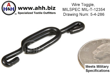 Wire Toggle, MILSPEC MIL-T-12354