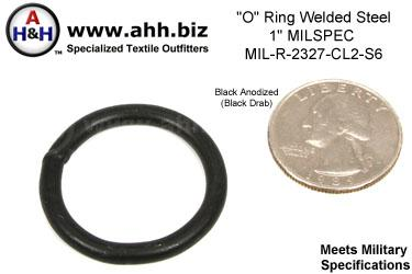 1 inch O Ring, Steel, Welded, Mil-Spec MIL-R-2327 Class 2 Type 6