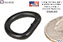 D-Ring, 19x13mm, MILSPEC MIL-R-3390, Class 2, Config. X, Black enlarged view #1