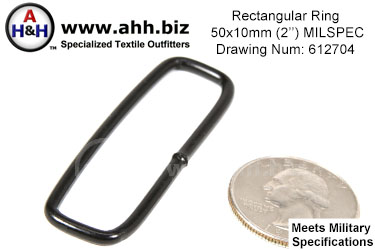 2 inch Rectangular Ring (2 inch x 5/8 inch) <br>Mil-Spec Drawing Number 612704
