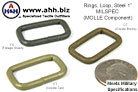 Rectangular Loop Ring MILSPEC MOLLE Component