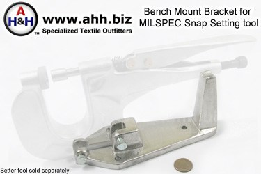 Bench Mounting Bracket for Mil-Spec Snap Setting Tool