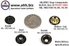 Snap Components, MILSPEC Black, Size 24 (Standard) Black