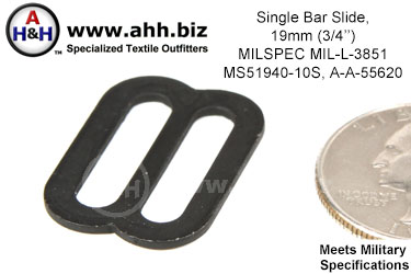 Single Bar Slide, 19mm (3/4 inch), MILSPEC MIL-L-3851