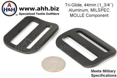 1 3 4 Inch Tri Glide Aluminum For Military Belt Mil Spec