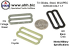Tri-Glides 1.5'' Mil-Spec Drawing C22-11-7 - Webbing Strap Adjusters