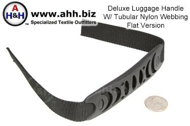 Deluxe Handle (flat style) for webbing with rubber grip and tubular nylon leads