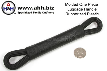 Heavy Duty Molded one piece Luggage Handle - Rubberized Plastic