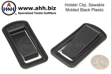 Holster Clip, Plastic, Sew On