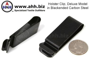 Holster Clip, Deluxe, Blackened Steel