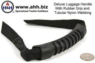 Deluxe Handle for webbing with rubber grip and tubular nylon leads