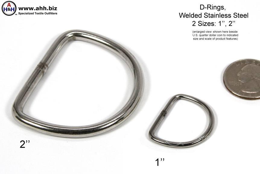 D Rings Welded Stainless Steel