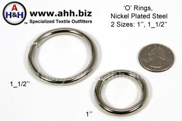 O Rings, 2 sizes from 1″, 1_1/2″