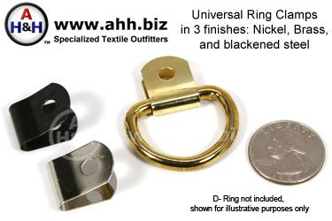 Universal Ring Clamps - in 3 colors - allows Strap rings to be connected to regular fasteners