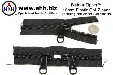 Build-a-Zipper™ YKK® 10mm Plastic Coil - NO End Stops