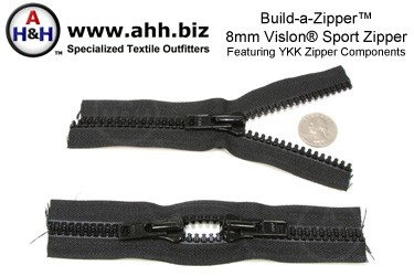 Build-a-Zipper™ YKK® 8mm Vislon® Sport - NO End Stops