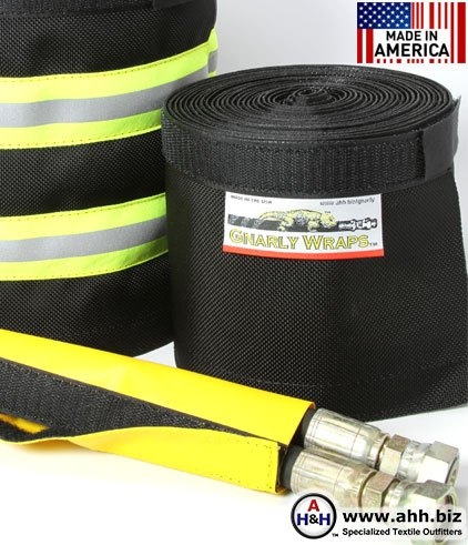Gnarly Wraps™ Burst Protection Sleeving for Hydraulic Hoses Made in America