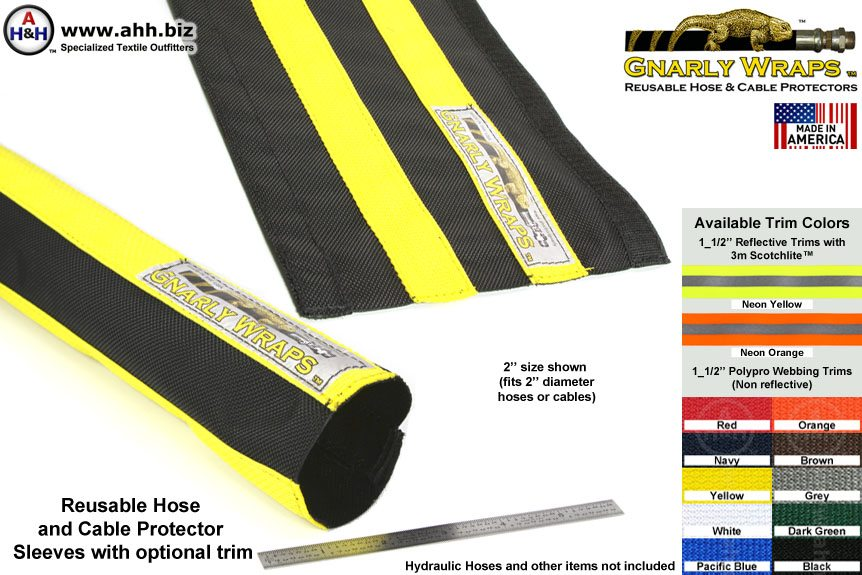 Hose And Cable Protector Sleeves 1050d Ballistic Nylon
