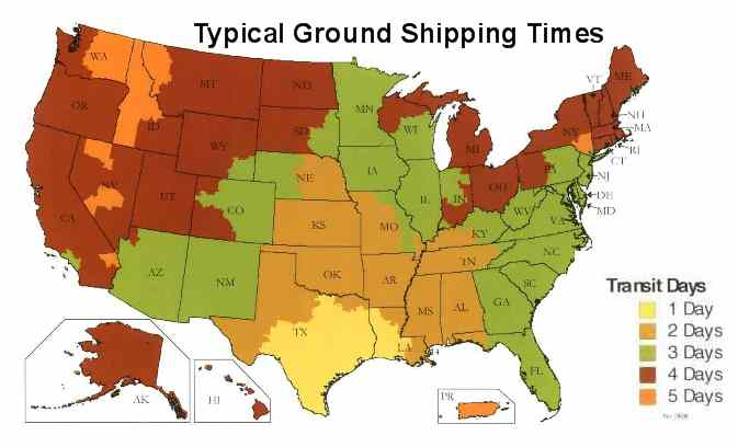 Typical Ground Shipping Times