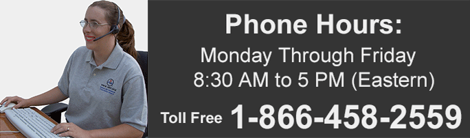 Mobile Phone Users - Click to here to call - We provide full customer service by Phone, E-mail - Monday through Friday 08:30 to 17:00 (EST)