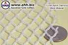 A nylon Mesh Netting with 12mm holes - flexible and drapes well