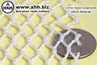 knitted Nylon Net material with 9mm mesh size - very flexible, drapes well
