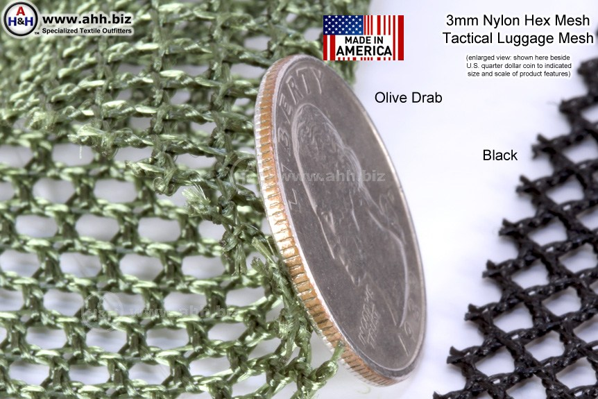 3mm Nylon Hex Mesh Fabric Tactical Luggage Mesh