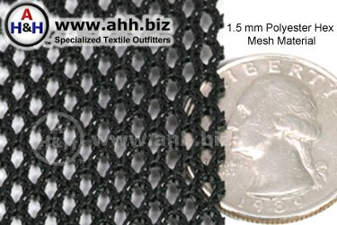 1 5mm Polyester Hex Mesh Heavy Duty Mesh Material