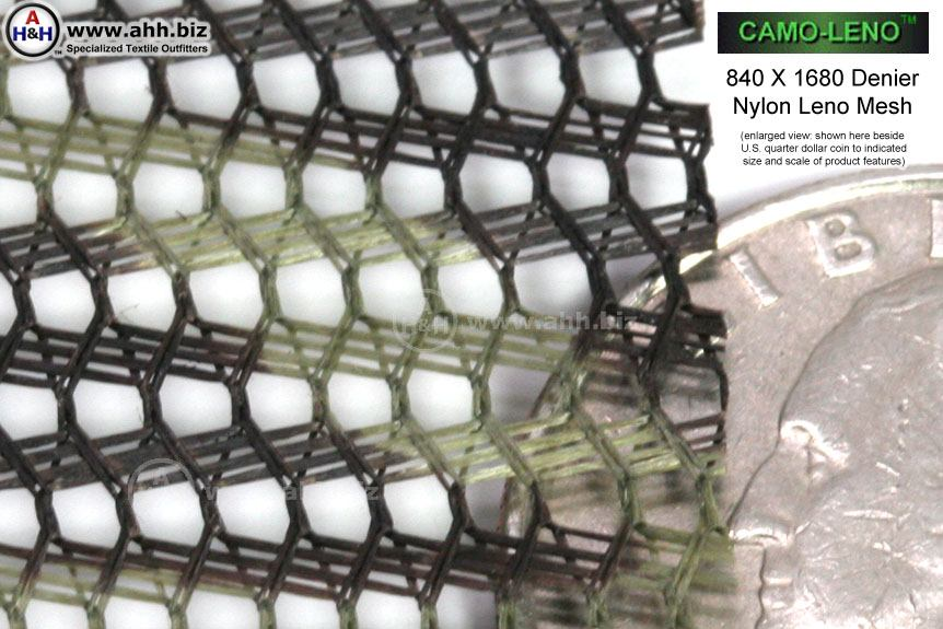 Camo Leno Nylon Mesh Material