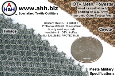 Military IOTV Expanded Mesh Fabric