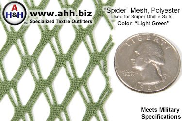Polyester ″Spider″ Mesh, for Military Sniper Ghillie Suit