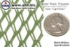 'Spider' Mesh - Used in US Military Sniper Ghillie Suits - Lightweight and Breathable mesh material