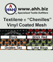 Textilene® Chenille Designer Outdoor Vinyl Mesh is available in these colors