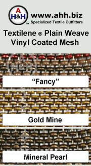 Textilene® Plain Weave Designer Outdoor Vinyl Mesh is available in these colors