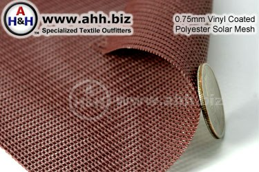 0.75mm Vinyl Coated Polyester Solar Mesh