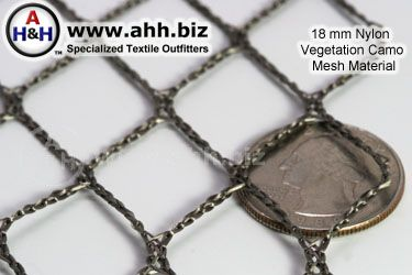 18mm Vegetation Camo Mesh knitted camouflage netting material