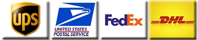 Shipping Options: UPS, U.S. Postal Service, FedEx, DHL
